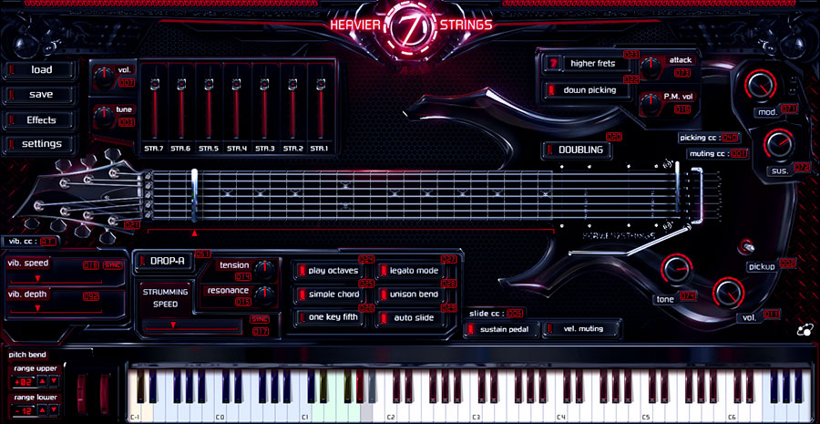 Heavier7strings - Virtual Instruments - Three-Body Technology